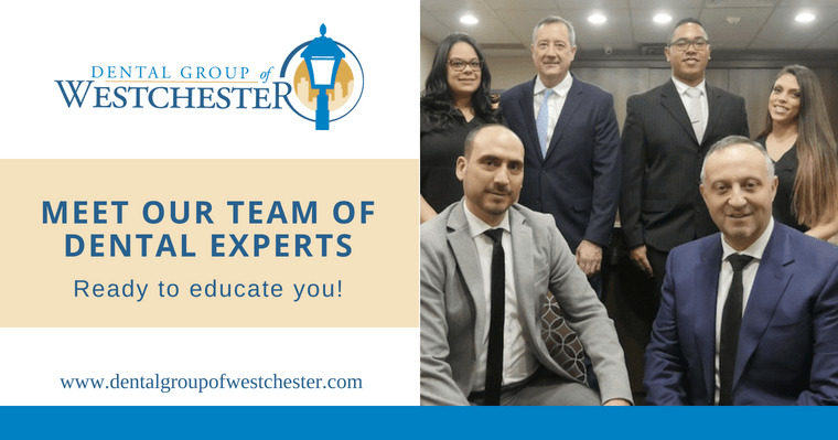 Team of dentists at Dental Group of Westchester promoting educational dental blog