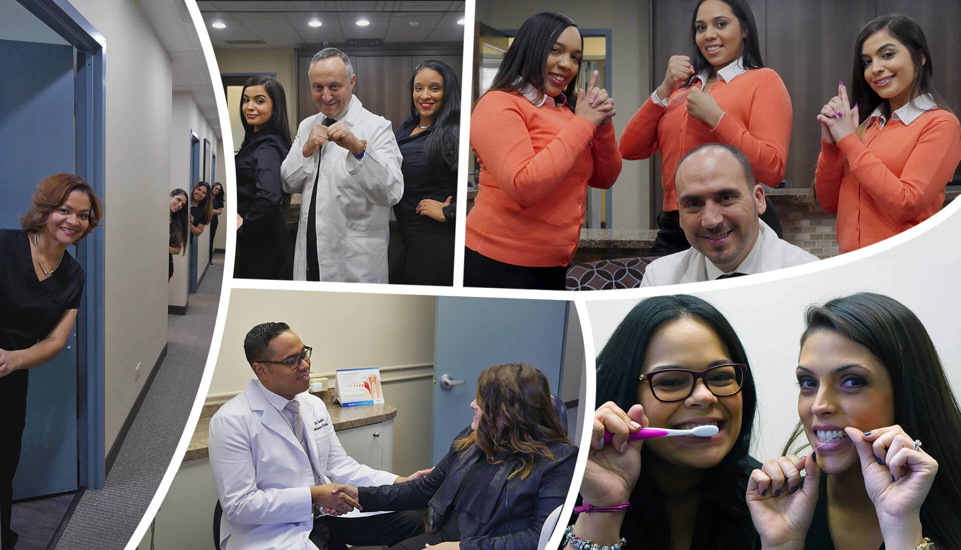 Collage of the Dentist in White Plains NY practices