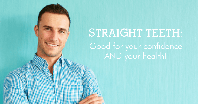 A man who has straight teeth and a healthy mouth thanks to orthodontics