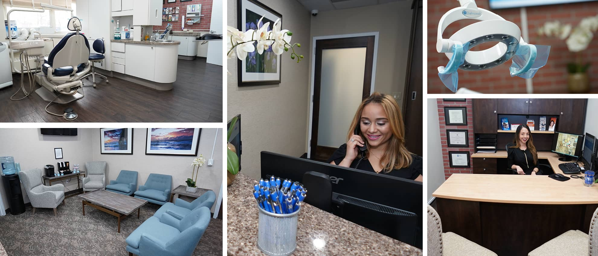 Collage of our dental office in White Plains, NY