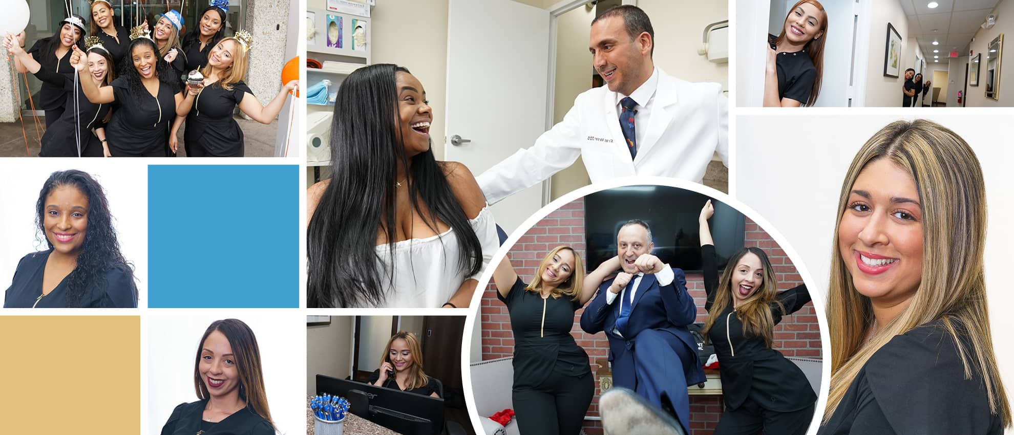 Collage of our friendly dental team in White Plains, NY