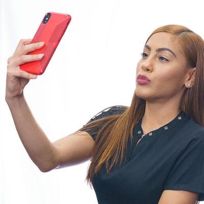 Desiree taking a selfie